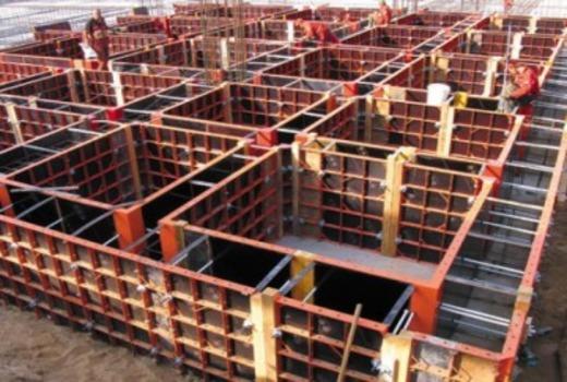 Опалубки в виде крупных блоков