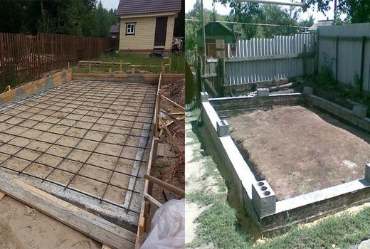 Фундаментная плита для строительства гаража