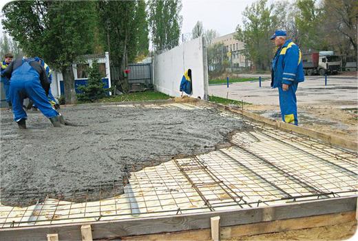 Заливка монолитной фундаментной плиты