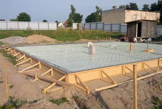 Строительная конструкция - фундамент плита