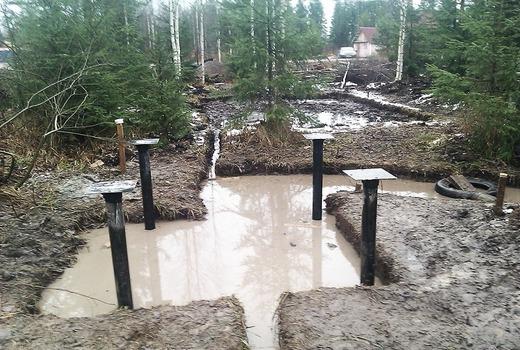 Буронабивные сваи для фундамента в болоте