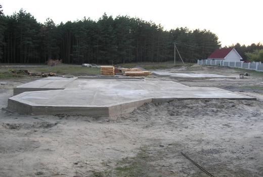 Этап бетонирования стяжки