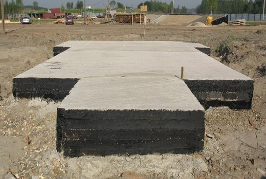 Железобетонная плита под фундамент