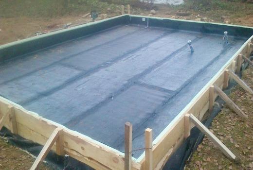 Гидроизоляция монолитной плиты фундамента