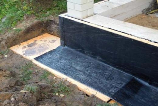 Сборный фундамент из стандартных плит