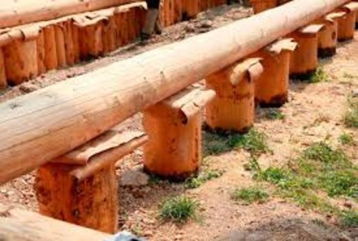 Деревянный фундамент в строительстве