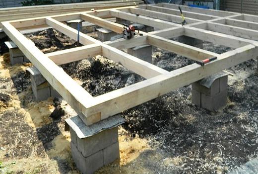 Фундамент для домов с легкими стенами