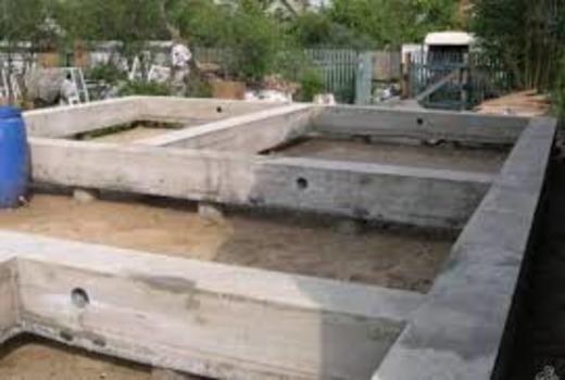Фундамент для возведения бани