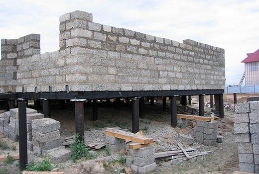Свайный фундамент для дома из газоблоков