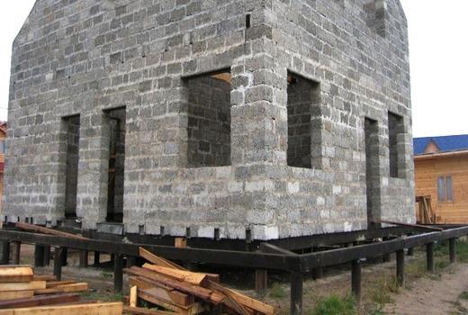 Основа под дом из газоблока