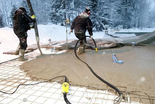 Заливка бетона в холодный сезон
