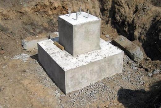 Монолитно-столбчатый фундамент