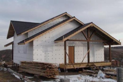 Принцип переноса дома на свайный фундамент