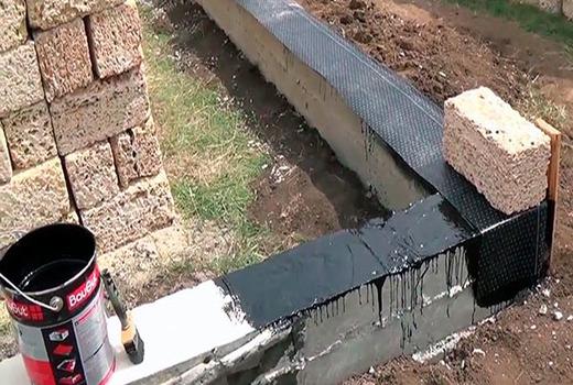 Гидроизоляционный слой способствует защите объекта