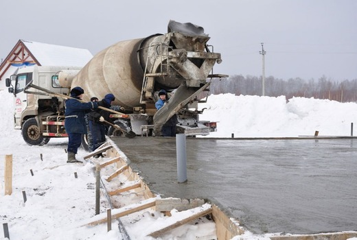 Заливка фундамента на Севере в зимний сезон