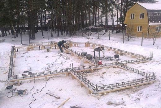 Консервация фундамента на зиму