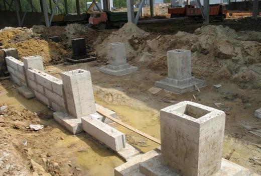 Столбчатое основание под стальные колонны