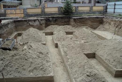 Формирование бетонной ленты фундамента
