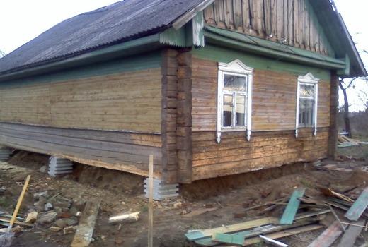 Фундамент под старый деревянный дом